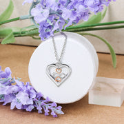 Ayllu Love Luck Unity BFF Open Heart Charm Pendant 925 Silver Two Tone