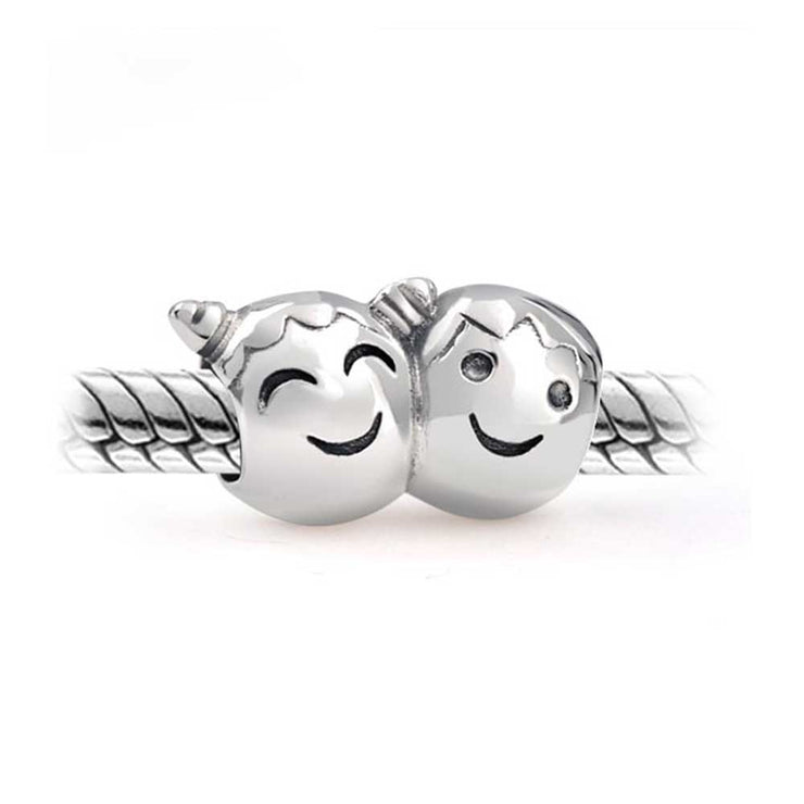 BFF Brother Sister Best Friend Family Charm Bead 925 Sterling Silver