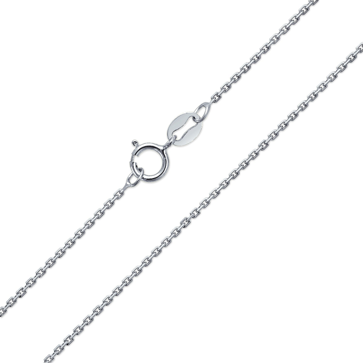 Snake or Ball Chain Necklace Sterling Silver Small Satin Number 19 on a Sterling Silver Cable