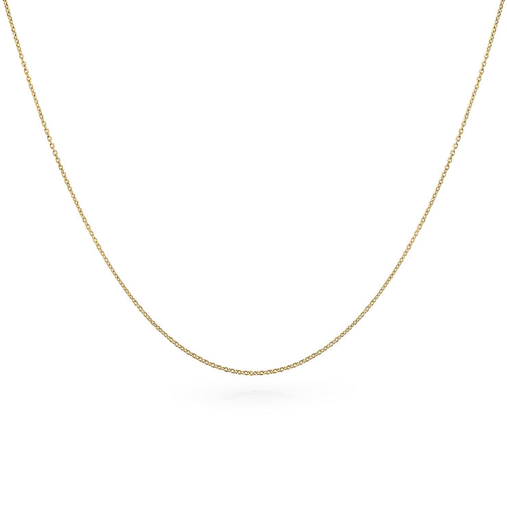 Diamond Cut Cable Link Chain 20 Gauge 14k Gold Plate Sterling Silver