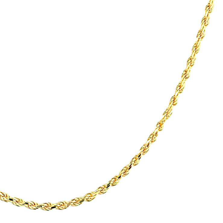 Rope Link Chain040 Gauge Necklace Gold Plated Sterling Silver 16 20