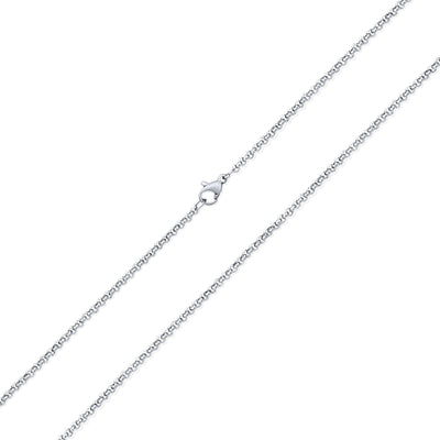 Thin Rolo Cable Link Chain 3MM For Men Silver Tone Stainless Steel