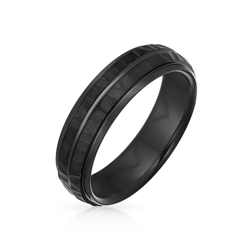 Details about  /Black Silver Two Tone Stripe Wedding Band Titanium Ring For Men 6MM