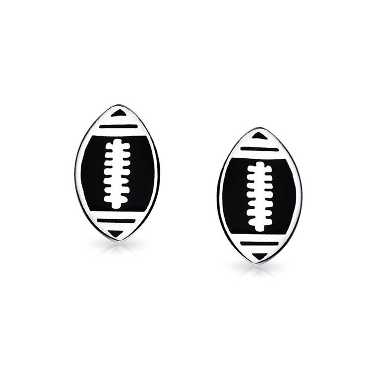 Football Coach Sports Black Shirt Cufflinks 925 Sterling Silver