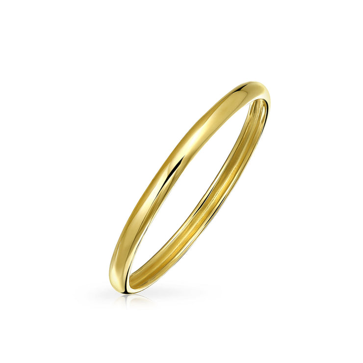 Thin Stackable Mid Finger Real 14K Yellow Gold Wedding Band Ring 1mm