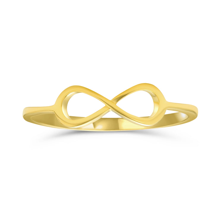 Midi Knuckle 1MM Band Knot Infinity Ring 14K Plated Sterling Silver