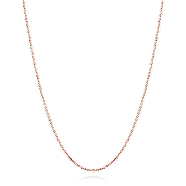 Rolo Chain 2 5 MM 40 Gauge Rose Gold Plated 925 Sterling Silver