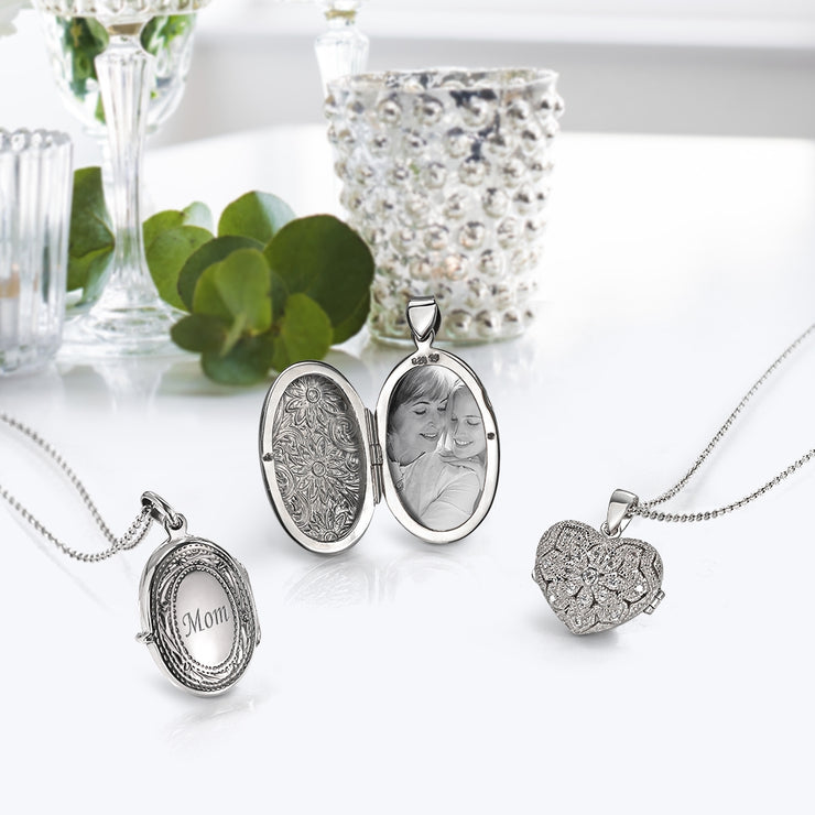 CZ Heart Shape Aromatherapy Essential Oil Perfume Diffuser Locket