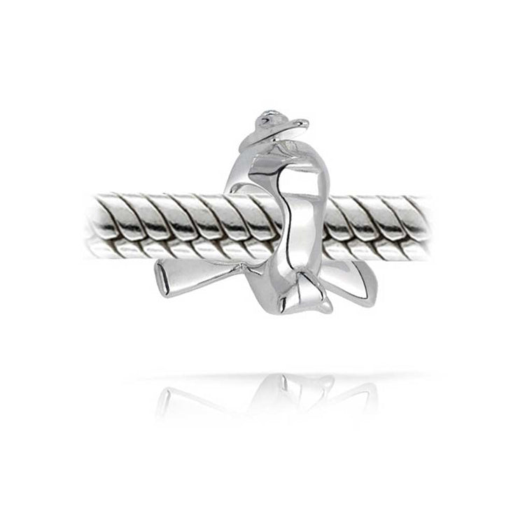 Airplane Aircraft Flight Pilot Travel Bead Charm 925 Sterling Silver