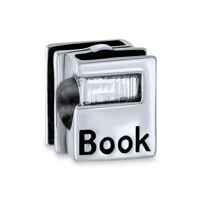Graduate Student Word Book Worm Reader Books Charm 925 Sterling Silver
