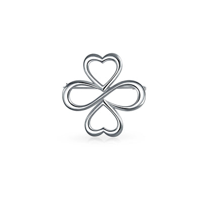 AYLLU Hearts Infinity Clover We are One Plated 925 Sterling Silver Pin