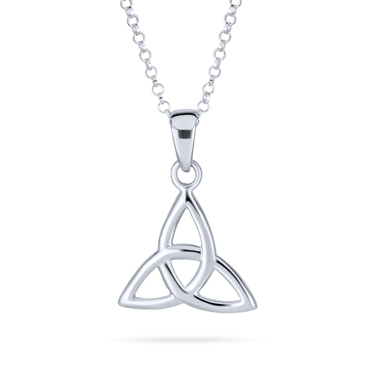 Celtic Triquetra Trinity Knot Pendant Necklace 925 Sterling Silver