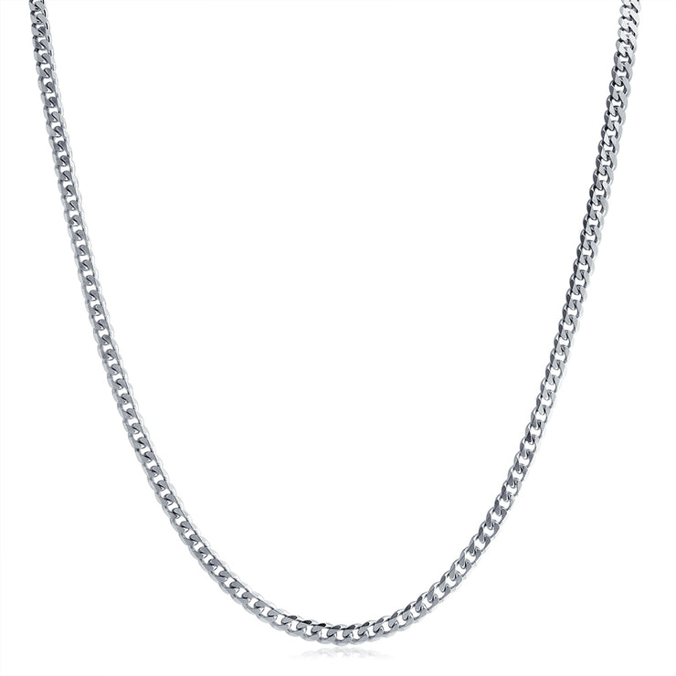 Heavy Solid Curb Cuban Link Chain 150 Gauge Necklace Sterling Silver