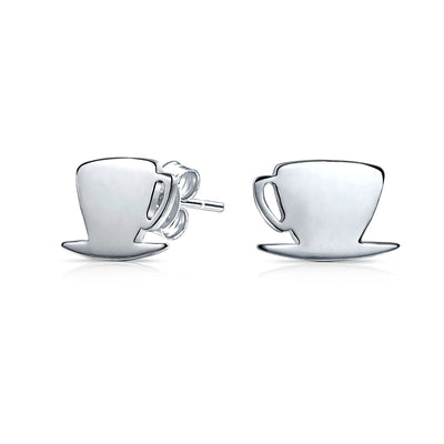 Tiny Food Latte Espresso Cafe Coffee Lover Stud Earrings For Women For