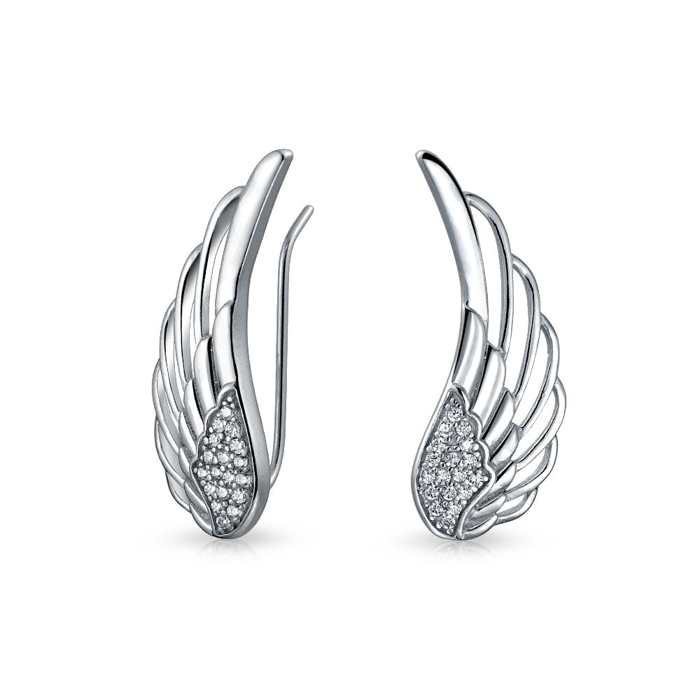 Feathered Angel Wing Earrings