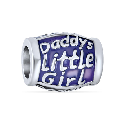 Daddys Little Father Love Daughter Charm Bead 925 Sterling Silver