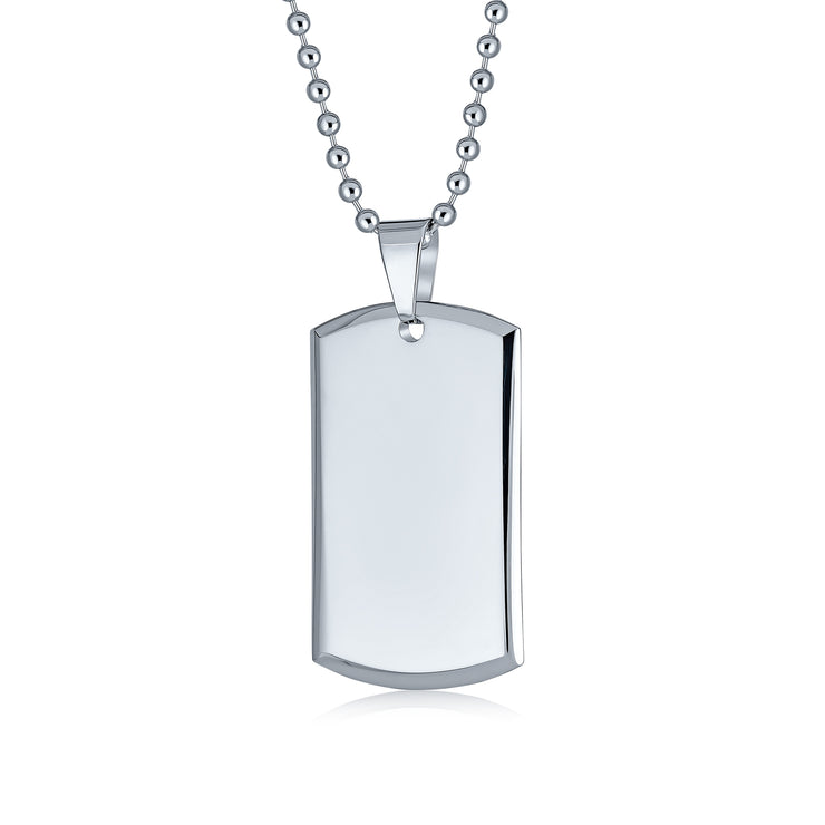 Ein Army Necklace Pendant Engraving Plate Dog Tag Military Dog Tag
