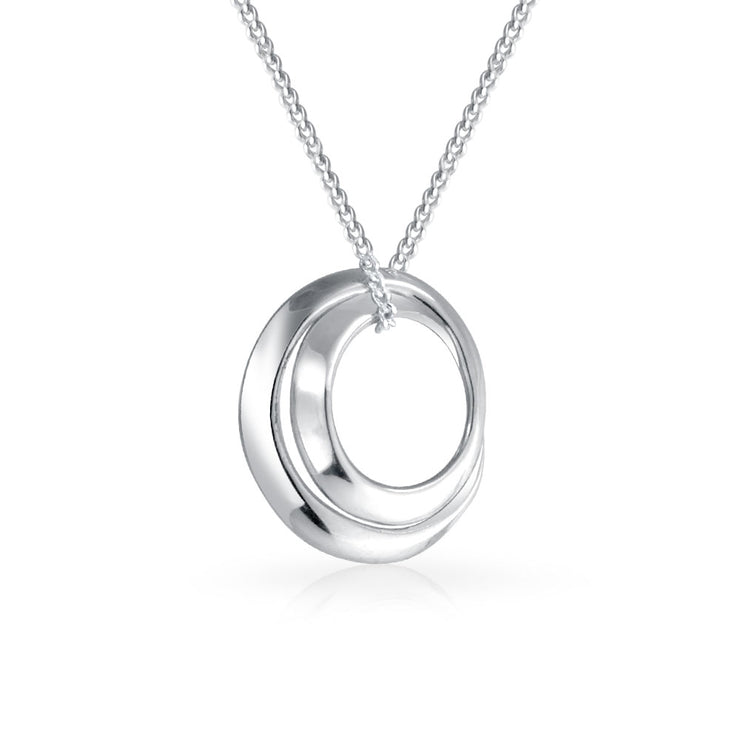 Mother Daughter Friends Inspiration Pendant Necklace Sterling Silver