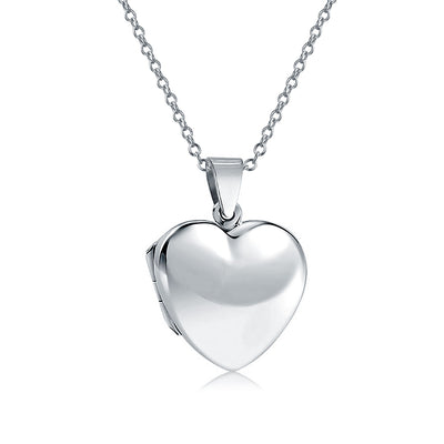 Simple Heart Photo Lockets For Women That Hold Picture Locket Pendant