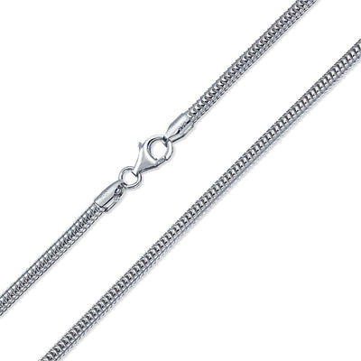 Snake Magic Strong Flexible Link Chain 320 Gauge Sterling Silver