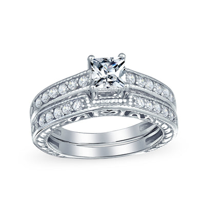 1.25CT Solitaire Band AAA CZ Engagement Wedding Ring Sterling Silver