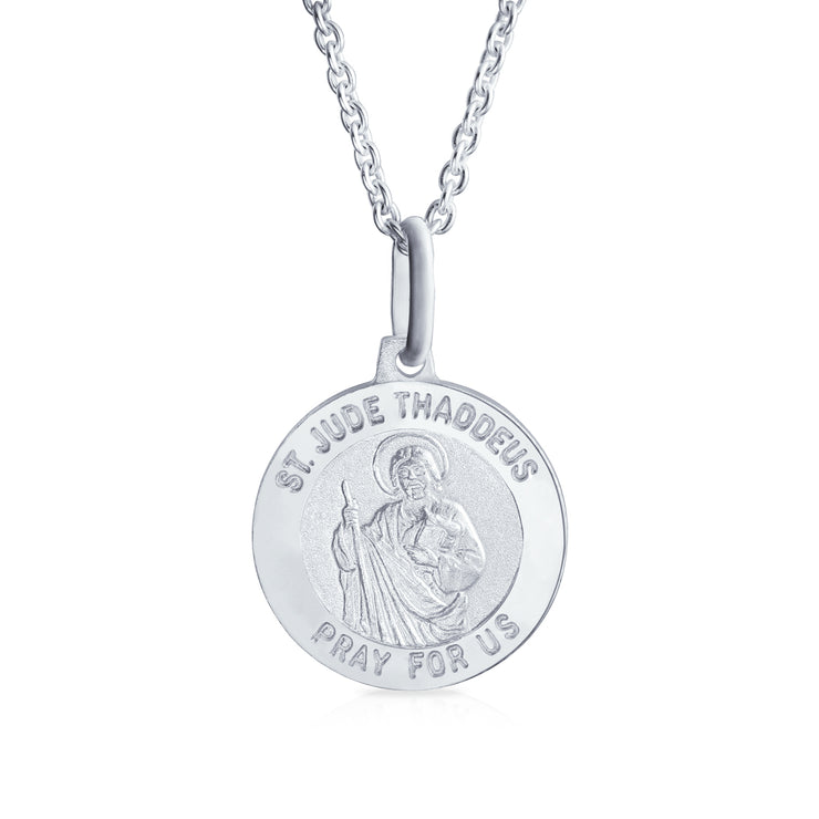 Saint Jude Thaddeus Patron of Hopeless Causes Medallion Silver Pendant