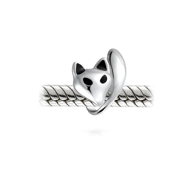 Fox Foxy Lady Hunter Bead Charm 925 Sterling Silver