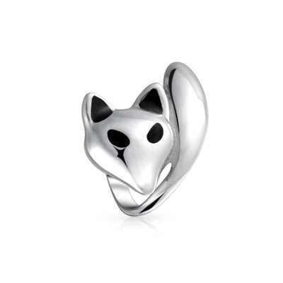Fox Foxy Lady Bead Charm 925 Sterling Silver Fits European Bracelet