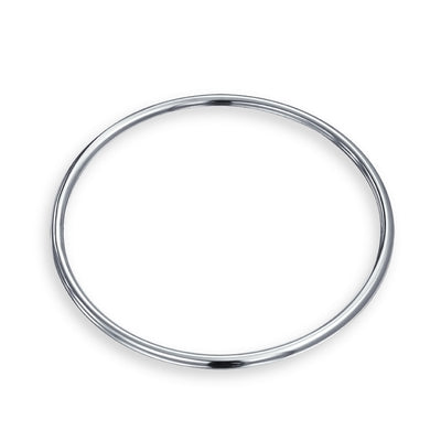 Stackable 5MM Smooth High Bangle Bracelet High 925 Sterling Silver