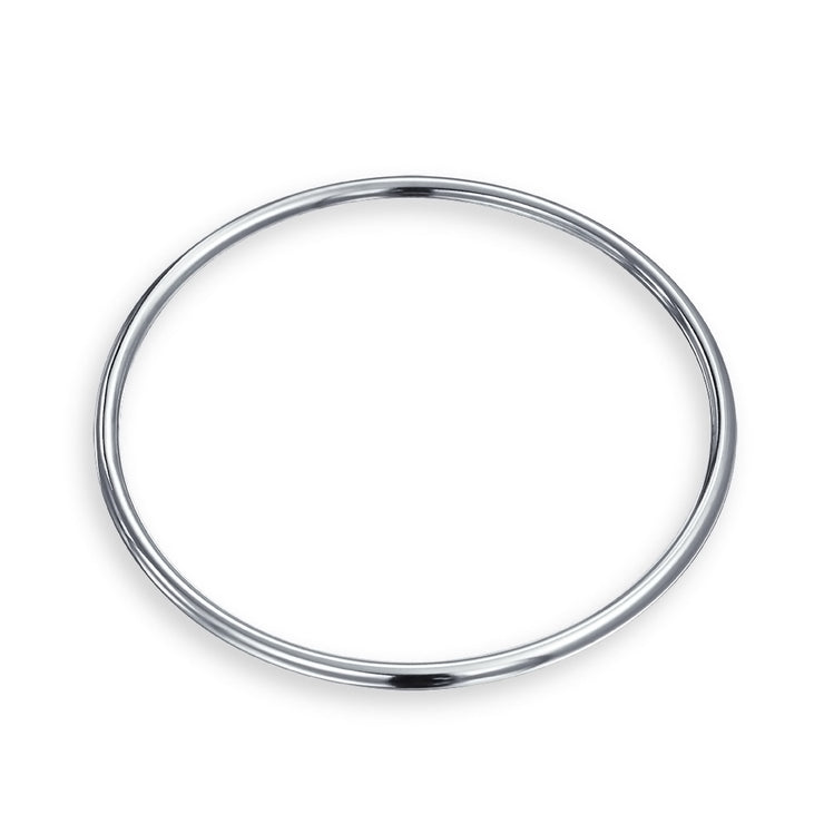 Stackable 3MM Smooth High Bangle Bracelet High 925 Sterling Silver