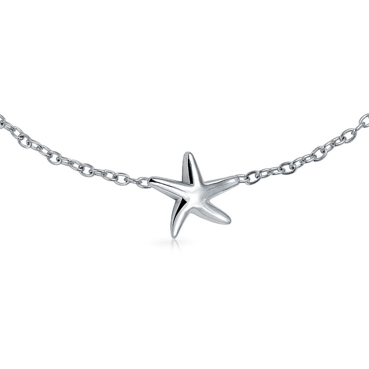3 Nautical Starfish Sea life Bracelet Women 925 Sterling Silver 7 Inch