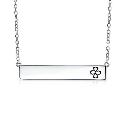 AYLLU .925 Sterling Silver Bar AYLLU Symbol Necklace