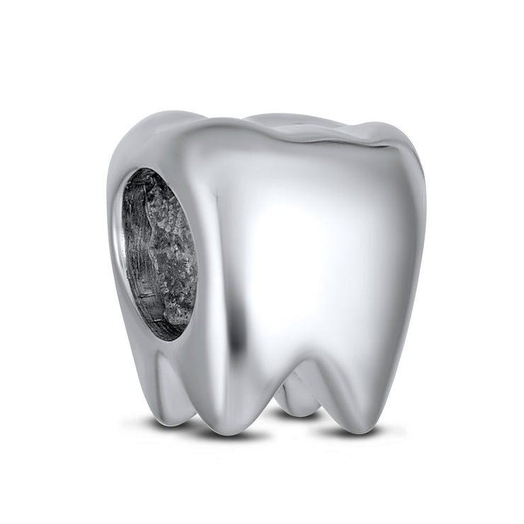 Dentist Smiling Tooth Fairy Charm Bead .925 Sterling Silver