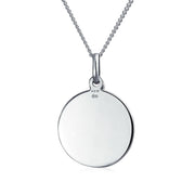 AYLLU Live The Life You Love Disc BFF Pendant Necklace Two Tone Silver