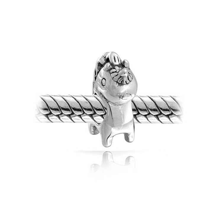 Good Luck Mythical Unicorn Charm Bead 925 Sterling Silver