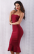 Luna winebandage dress