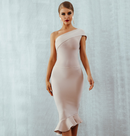 Nina nude bandage dress