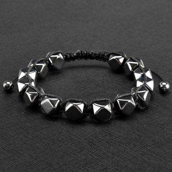 Hematite Geometric Unisex Adjustable Bracelet
