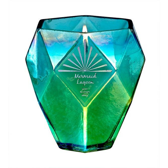 Mermaid Lagoon Soy Crystal Aura Candle