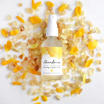 Citrine Abundance Crystal Mist with Lemongrass