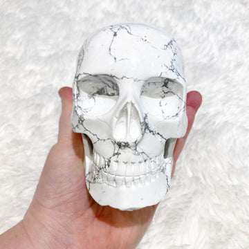 Howlite Mitchell-Hedges Style Crystal Skull