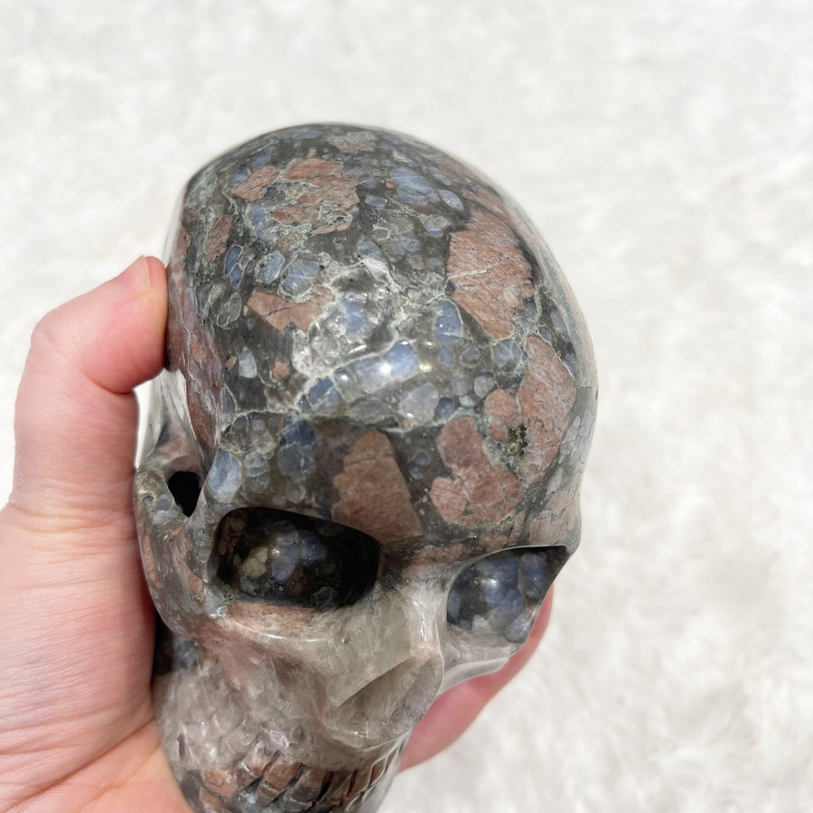 Blue Opal MItchell-Hedges Style Crystal Skull