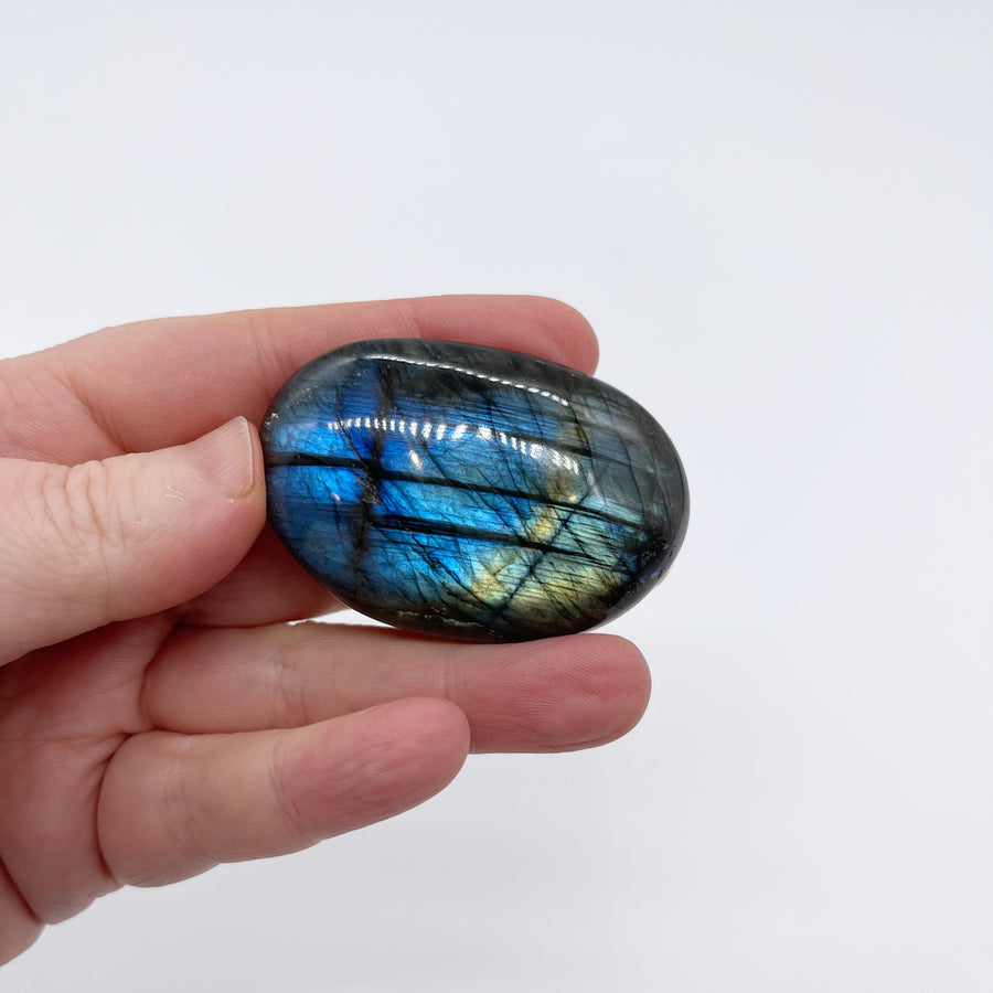 Flashy Labradorite Palm Stone