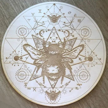 Cosmic Honey Bee Crystal Grid