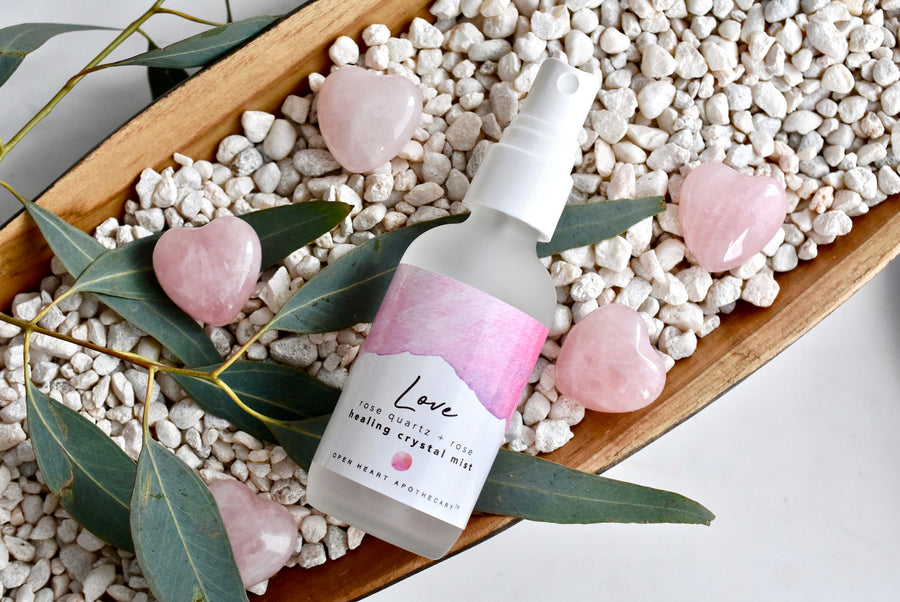 Rose Quartz Love Crystal Mist with Rose and Vanilla