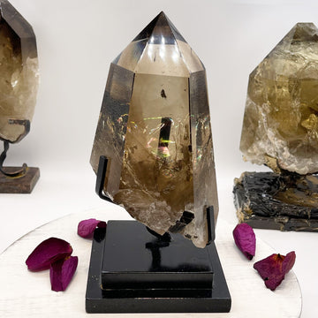 Epic Natural Smokey Citrine Crystal Generator with Rainbows