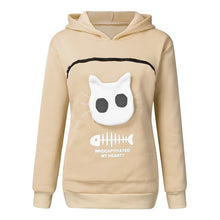 Load image into Gallery viewer, Hoodie with Cat Pouch