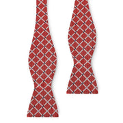 Checkered Self Tie Bow Tie – 100% Silk Hand Made