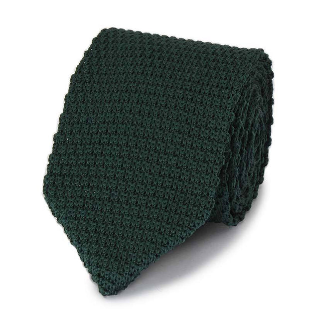 Classic Solid Ties Hand-Made Microfiber Knit Tie