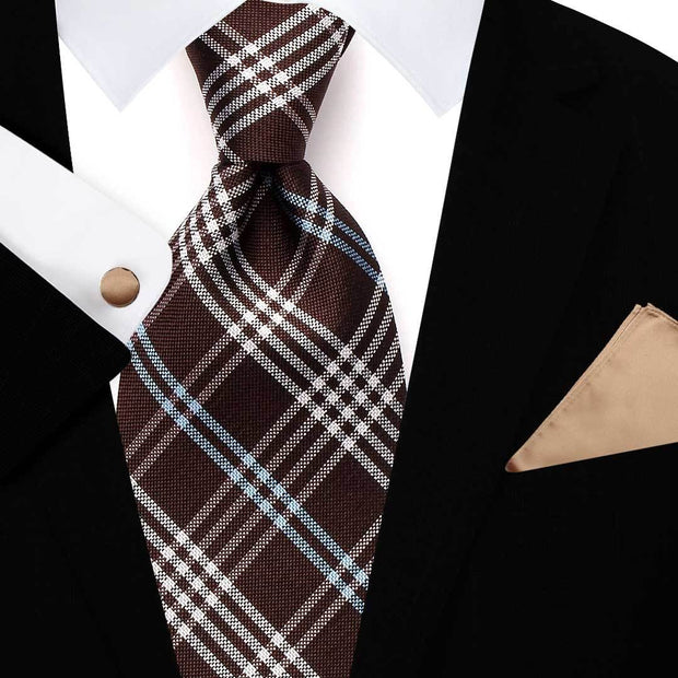 Gingham Check Tie Set